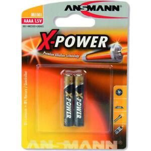 Ansmann Alkaline X-Power Batterie, (AAAA), 2er Pack (1510-0005)