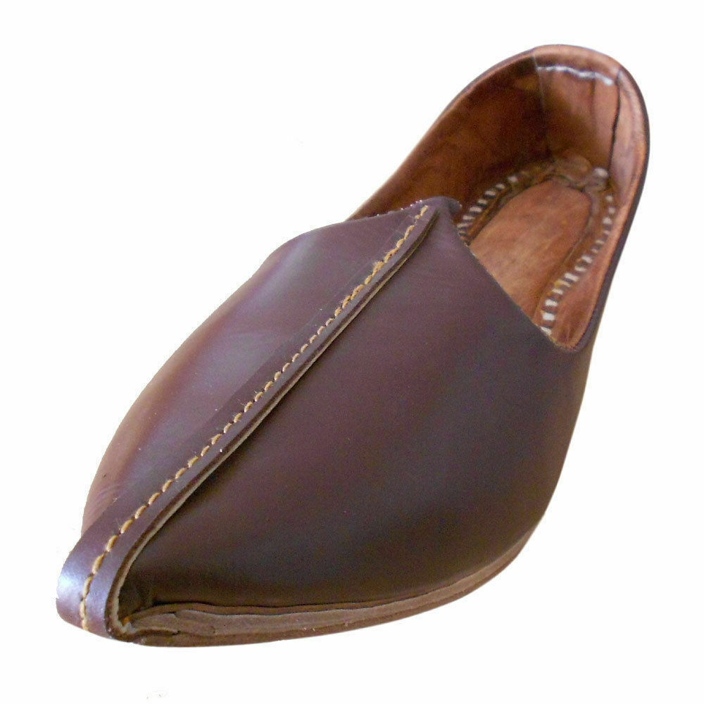 Men shoes Traditional Casual Mojari Genuine Leather Mojari Flip-Flops Flat US 11