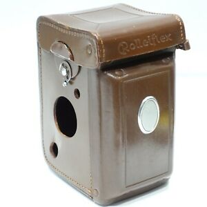 Rolleiflex-Leather-case-Exc-fits-3-5E-2-8E-or-T-Genuine-Rollei-camera-case