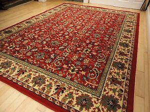 Large Traditional Area Rugs Carpet Oriental Rug 8x10 Red