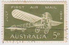 (W1764) 1964 AU 5d green 50th anniversary 1st air mail (C)