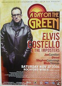 Elvis Costello Tour History