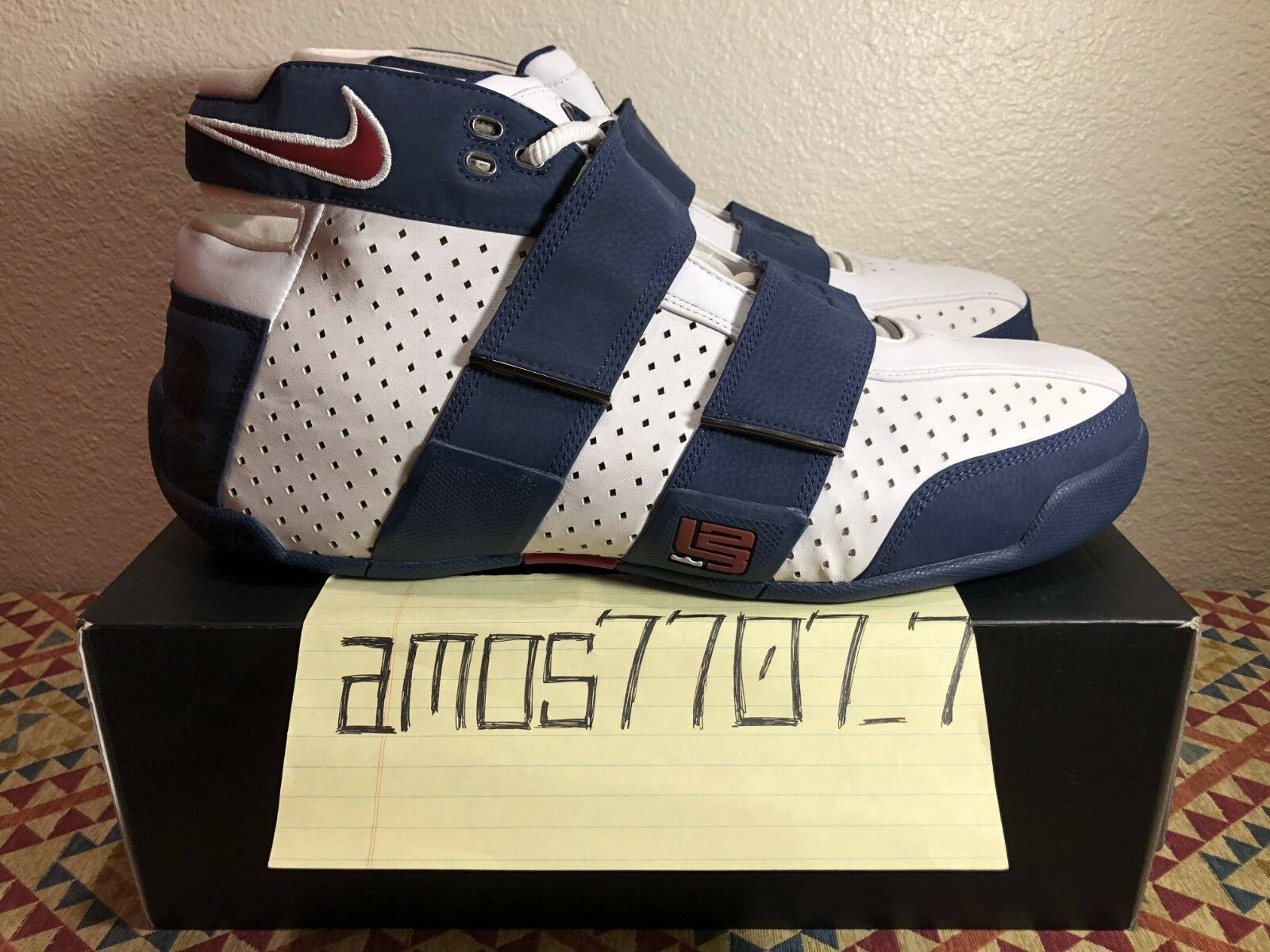 Nike Zoom 20-5-5 LeBron PE Four Horsemen White Navy bluee RARE Size SZ 16