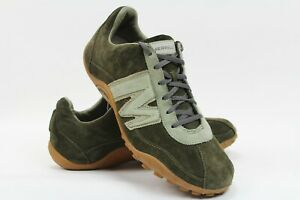 Merrell-Mens-Size-11-Green-Sprint-Blast-Java-Sage-Leather-Suede-Trainer-Shoes