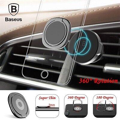 Baseus 360 Degree Key Ring Finger Phone Bracket Desk Car Magnetic Stand Holder