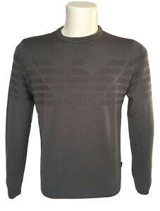 EMPORIO-ARMANI-maglione-pullover-in-Lana-Vergine-grigio-art-6Z1MYA-sconto-50