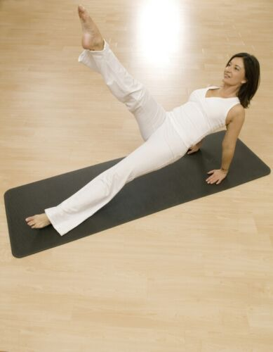 AIREX Yogamatte 190x60 cm Anthrazit mit ÖsenPilates Gymnastik Fitness Yoga