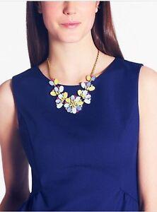 Halskette-Blume-Perlmutt-Bunt-Kristall-Modern-Retro-Stil-Original-Abend-Ks-3