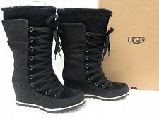 c2174453261b item 1 UGG Mason Waterproof Suede Black Chestnut Lace Bow Wedge Rain Tall  Boots 1019067 -UGG Mason Waterproof Suede Black Chestnut Lace Bow Wedge  Rain Tall ...