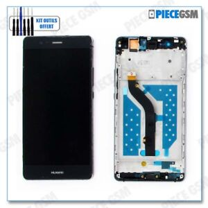 ECRAN LCD + VITRE TACTILE + FRAME CHASSIS pour HUAWEI P9 LITE NOIR + outils