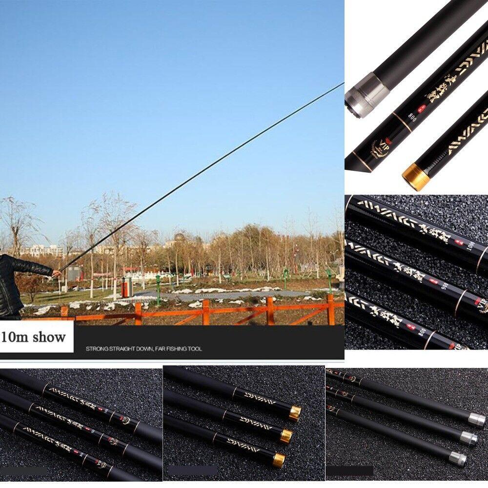 Fishing Rod Telescopic Carbon Fiber 8M 10M 12M Pole Ultra Light Carp Rods 75cm