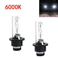 A Pair 6000K White D2S D2R D2C HID Xenon Bulbs Replace Factory HID Headlights #