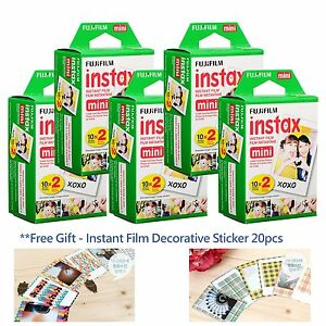 Fuji Fujifilm Instax mini film White 100 Photos pour Mini 8 7S 90 50 camera FR