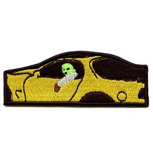 Jackboys In Yellow Car Embroidered Iron On Patch