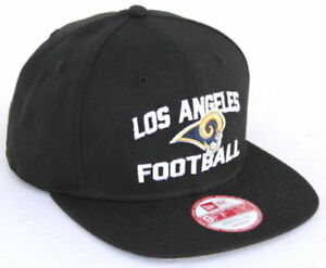 NFL LA Rams New Era Los Angeles Football 9FIFTY Snapback Hat - Black ... 7d6217cb5