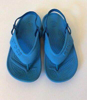 36c91c103 Kids Crocs Hilo Sandals With Elastic Heel Strap Sky Blue Size C9