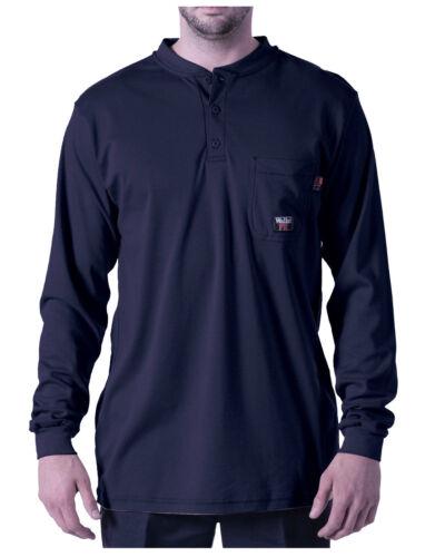 2XL Large Walls FR Men/'s Flame Resistant Long Sleeve Henley HRC Level 2 Med