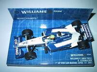 Minichamps F1 1/43 WILLIAMS BMW FW23 RALF SCHUMACHER 1ST WIN SAN MARINO GP 2001