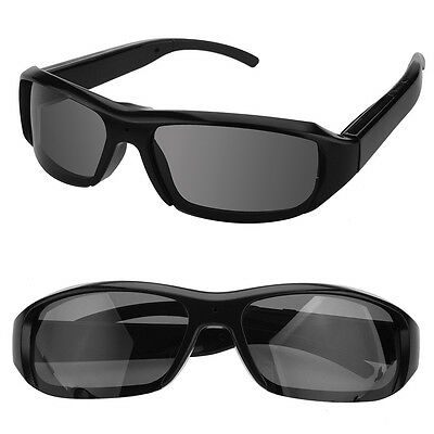 850B 1080P Dual Buttons Gray Lens Sunglasses Camera Spy Hidden Eyewear Recorder