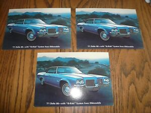 Vintage 1971 Magazine Ad for Oldsmobile Delta 88 New G Ride System