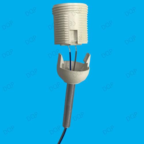 Elektrisch Lampe Steckdose 2x M10 600mm x 10mm Alle Gewinde Hohl Stange Rohr