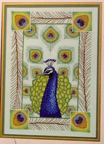 Peacock Elegance Cross Stitch Pattern 2 designs