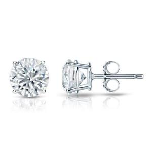 1-Ct-Round-Cut-Stud-Earrings-Solid-14k-White-Gold-Finish-Push-Back