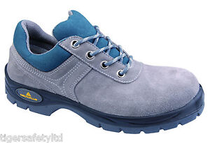 2400be8290d Details about Delta Plus Panoply Mirage S1P Mens Grey Suede Safety Toe Cap  Safety Trainers