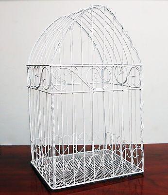 White Bird Cage Wedding Money Card Box