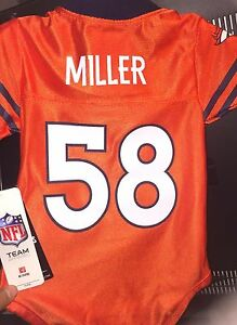 purchase cheap 7ef23 b04c5 NFL 2019 NEW DENVER BRONCOS VON MILLER #58 HOLO Jersey BABY ...