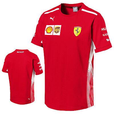 Bello 2018 Ufficiale Scuderia Ferrari F1 Formula Uno Team Da Uomo T-shirt Tee Originale Puma-mostra Il Titolo Originale Regalo Ideale Per Tutte Le Occasioni