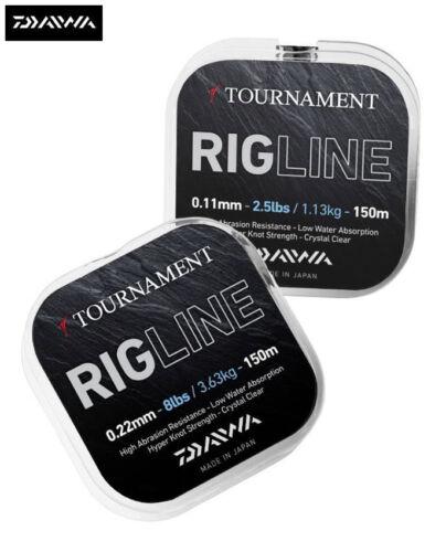 New Daiwa Tournament RIGLINE Monofilament Fishing Line 150m Spool All Sizes
