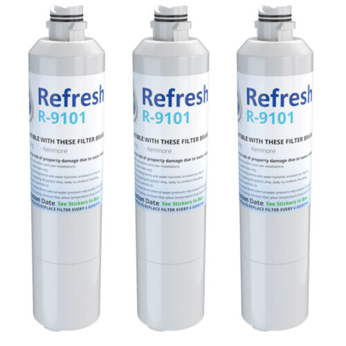 3 Pack Refresh Replacement Water Filter Fits Samsung NJW-03 Refrigerators