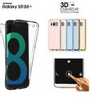 COVER per Samsung Galaxy S8 / PLUS FRONTE RETRO TPU TRASPARENTE PROTEZIONE 360°