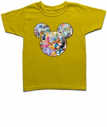 Mickey Mouse Head Silhouette Disney Characters Boys Girls T-Shirt-MMAC2