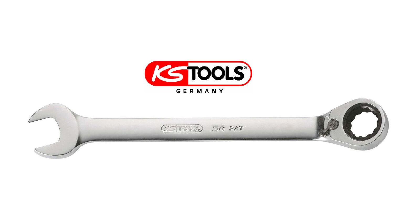 KS TOOLS Ratschenschlüssel gebogen umschaltbar 6 mm - 38 mm Maul-/Ringschlüssel