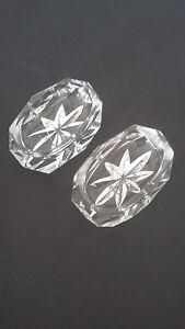 Tres Jolie Paire De Salerons En Cristal Taille - Antique French Crystal Salt Duq90cd3-07234227-328631418