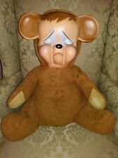 "Vintage Knickerbocker Pouting Teddy Bear - Rubber face 22-25"""