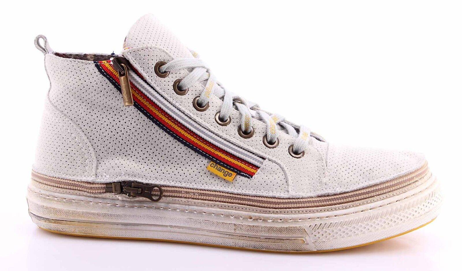 zapatos zapatillas Alte hombres CHANGE  KeysM Punz Cr Al 3 Pelle Bianco Made In