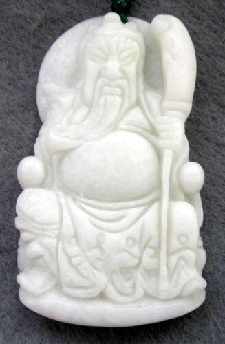Chinese Jade Han Dynasty Hero Guangong Guanyu Sword Amulet Pendant Talisman