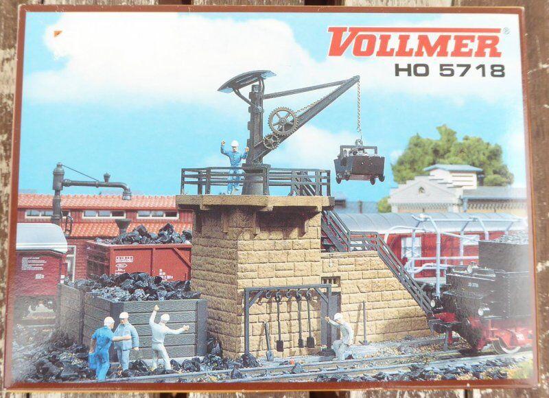 Vollmer 45718 H0 Instalación Pequeña de Carbón con la Grúa Kit 1 87 Neuwertig