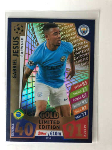 Topps match coronó Champions League 17//18 2017//2018 trading cards Limited Edition