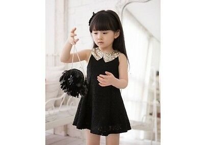 Design Top Hot Girls Kids Princess Clothes Party Lace SUMMER Dress 2-7Year