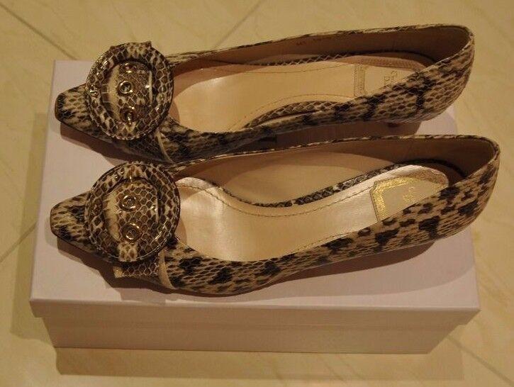 NEW Dior Leopard Medallion Pump Light Grey Low Heel - Size 40 IT   7 UK