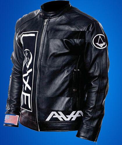 Angels and Airwaves-Tom Delonge Love Cow Hide Leather Jacket XAVA SURRENDER