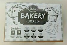 Kabode Auto Pop Up 6x6x3 Bakery Box 25 Pack Kraft Bakery Boxes With Window