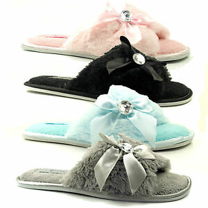 Offer Special Of WOMENS LADIES FLAT SOFT COMFORT JEWEL LIGHTWEIGHT MULE OPEN TOE SLIPPERS