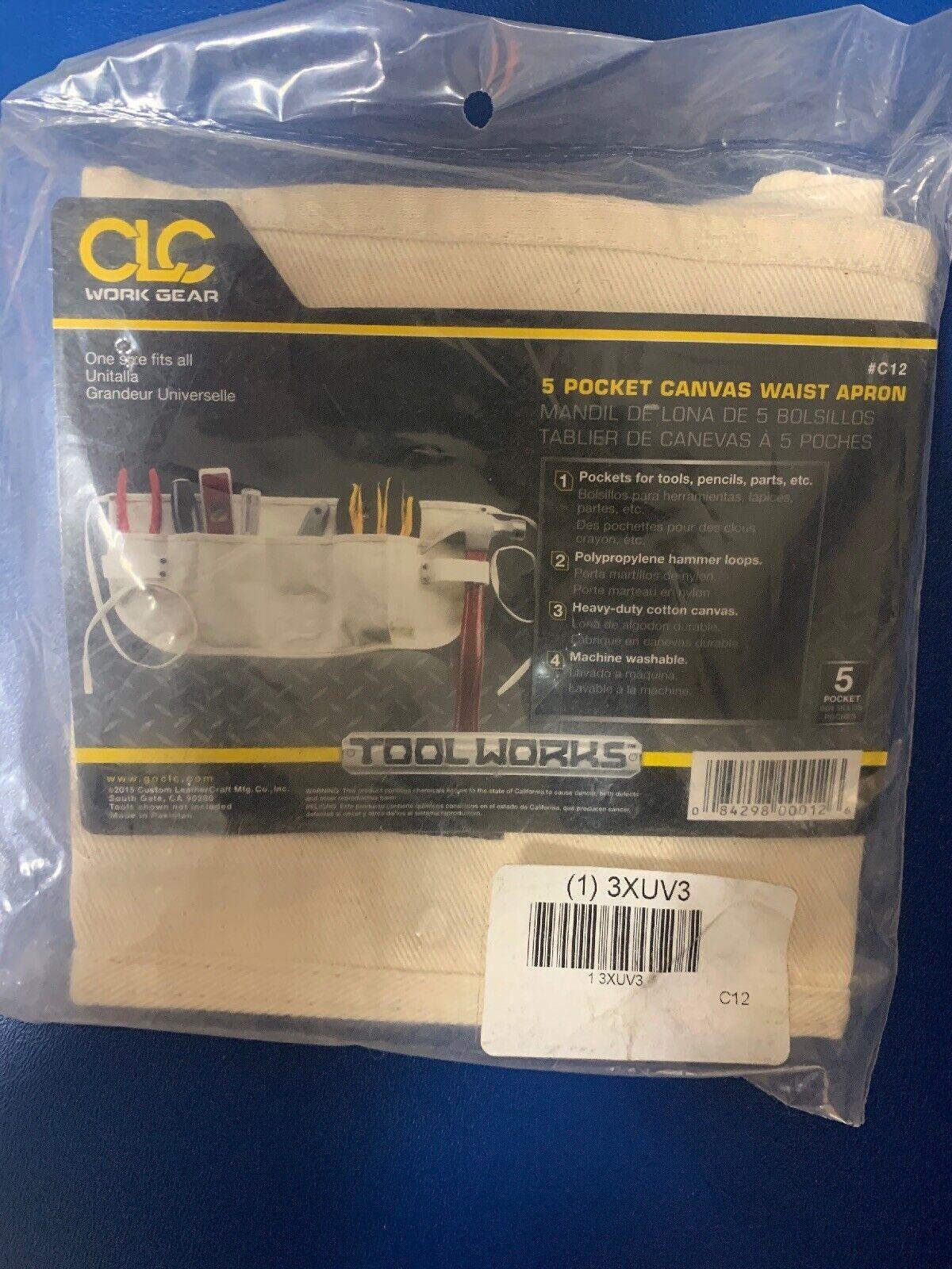 CLC Custom Leathercraft C12 , 5 Pocket Canvas Waist Apron Toolbelt