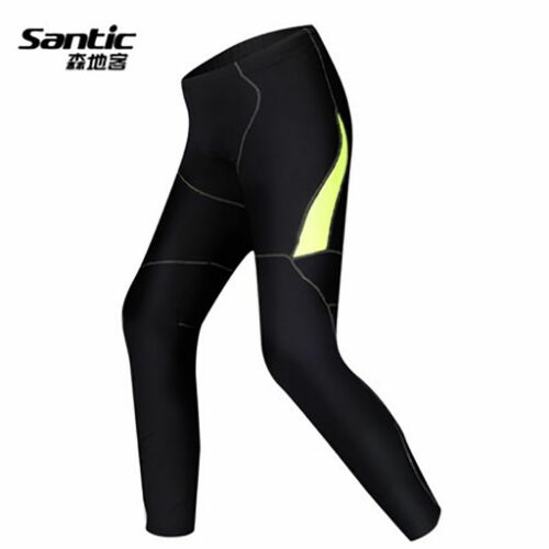 Santic Men's Cycling Fleece Pants Tights Winter Warm Long Trousers-Ligntwave