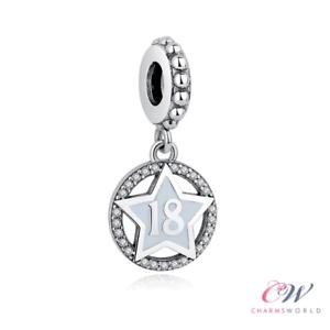 Birthday Milestone Gift 18th Birthday Charm Genuine 925 Sterling Silver